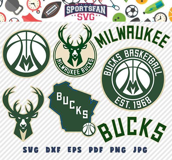 #MilwaukeeBucks #Milwaukee #Bucks #logo #svg pack- #basketballteam #team, #NBA #basketballleague #league, #basketballsvg #cutfiles #vector #clipart #digitaldownload #png, #jpg, #eps, #dxf by #SportsFanSVG on #Etsy