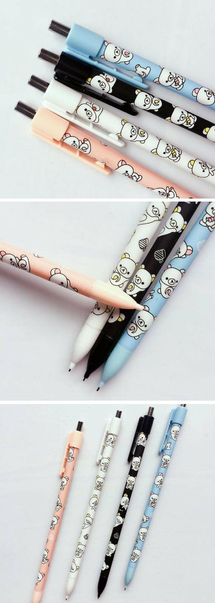 Rilakkuma design mechanical pencils! Omg I love Japanese stationery and rilakkuma is one of my favourite characters. Need these! #ad #kawaii #stationery #rilakkuma