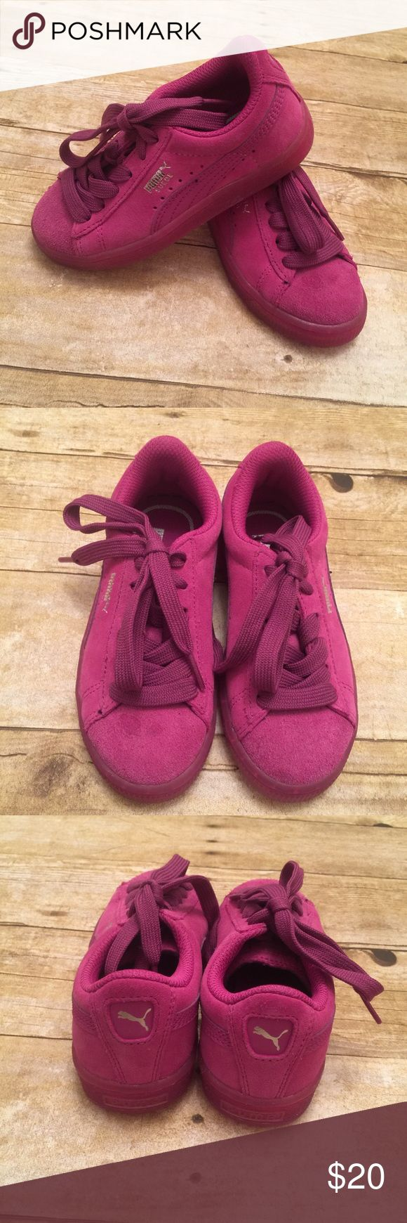 Puma Girls 11.5c purple pink vivid viola Excellent Preowned Condition.. 11 1/2c Size Puma Shoes Sneakers