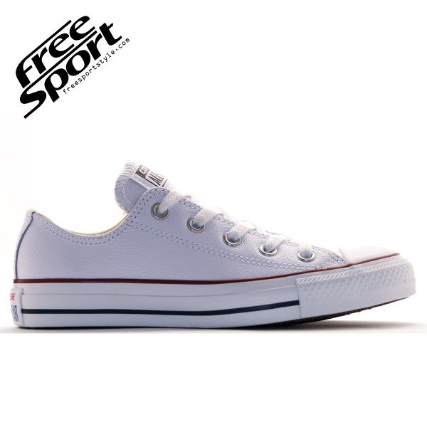 all star converse pelle bianche