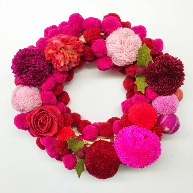The Gilliangladrag Blog : Free Pompom Christmas Wreath Tutorial for FLUFFY F...