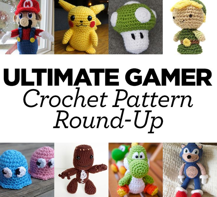 Ultimate Gamer Crochet Pattern Round-Up.  Turn these into Funko Pop patterns.  All the computer game characters