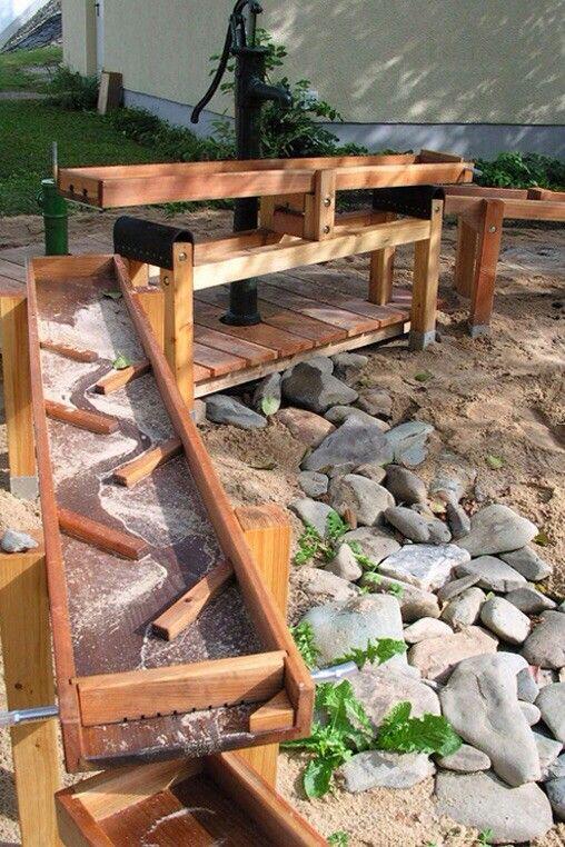 Wasserspielplatz 1 Preschool Outdoor Ideas