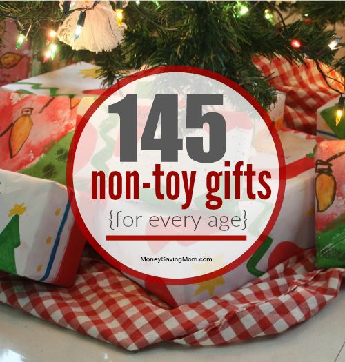 I'm willing to bet that you don't need anymore toys laying around your house, right?! Whether it's Christmas, a Birthday, or special occasion, there's no reason you must give toys for a gift. Think outside the box a bit! Here are 145 non-toy gift ideas!