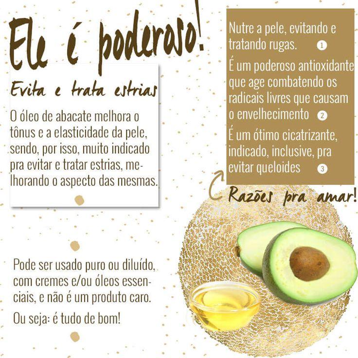 Óleo de abacate: é maravilhoso para a pele, combate rugas, trata estrias e faz milagres no cabelo! Quer mais? É tudo de bom pra saúde!