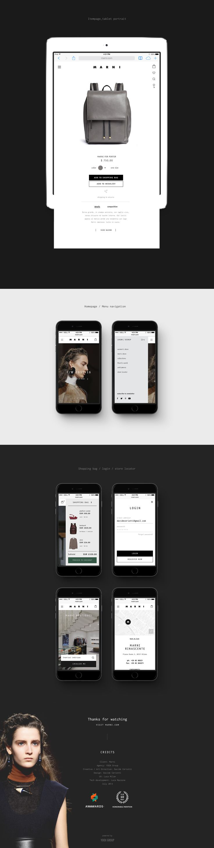 Marni.com on Behance