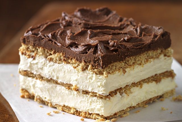 Graham Cracker Eclair Cake - Our delectably airy treat includes graham cracker layers that become cake-like and soft from the pudding.