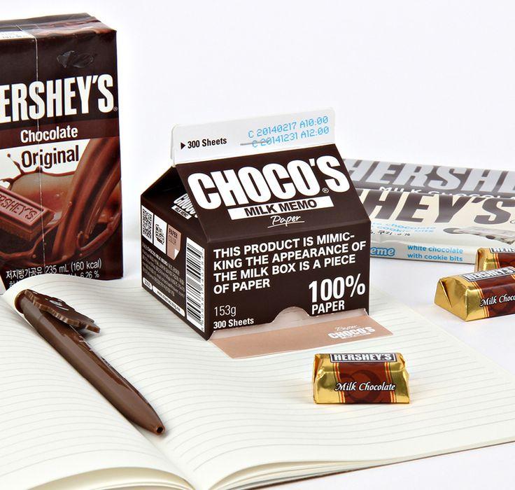 [바보사랑] 영양만점 우유 접착 메모! /메모/메모지/우유/디자인/아이디어/메모잇/문구/학용품/데스크용품/재밌는디자인/특이한디자인/메모패드/초콜릿/Memo/Notes/Design/Milk/Chocolate/Desk Accessories/Funny Design/Unique Design/memo pad/The idea/