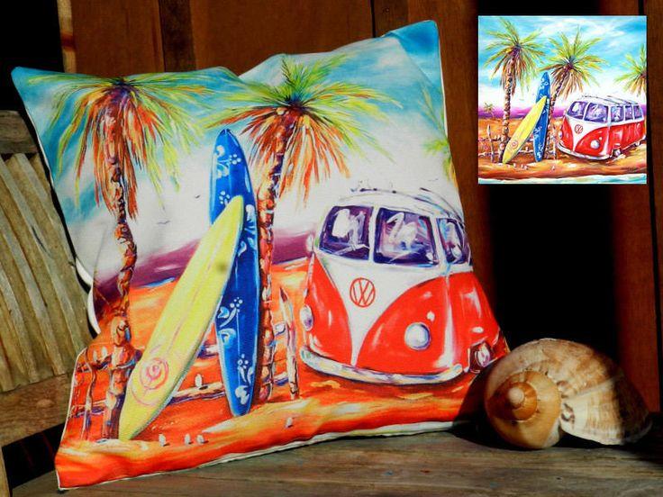The Gecko Shack - Surfs Up - VW Kombi Cushion Cover 40 x 40cm, $29.95 (http://www.geckoshack.com.au/surfs-up-vw-kombi-cushion-cover-40-x-40cm/)