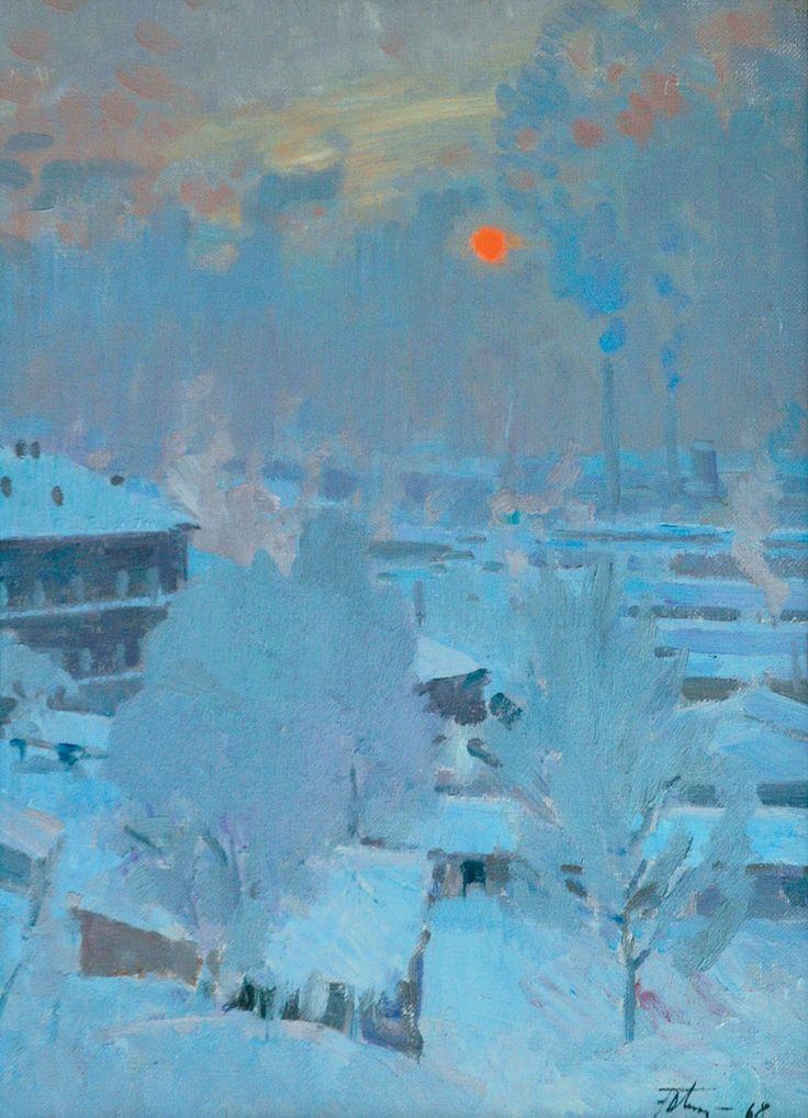Подляский Юрий Станиславович (1923–1987) «Морозное утро» 1968
