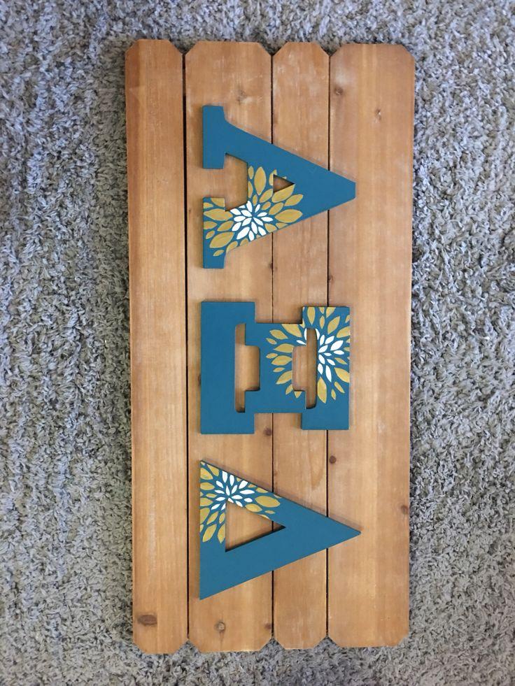 Alpha Xi Delta Big Little Reveal Auburn University 2016 #alphaxidelta #sorority #axid #tfj #biglittle #biglittlereveal #auburn #greeklife #crafts #sororitycrafts #big #little