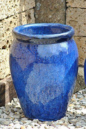 Pflanzkübel,Vase,blau,frostfest!!!!!50cm hoch