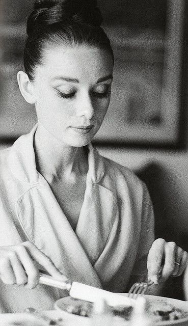 Audrey Hepburn photographed by Henry Wolf.