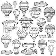 Resultado de imagen para globos aerostaticos dibujos vintage