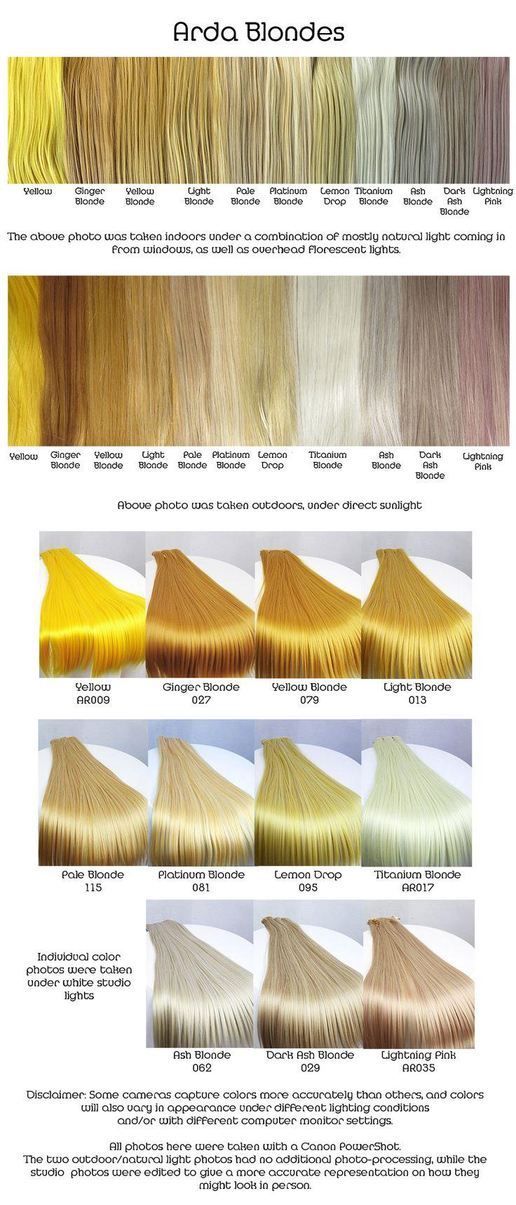 #colores #colours #cabello #hair #ColoresFantasia #FantasyColours #amarillos #yellow