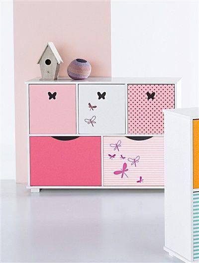 Farbenfrohes Schubladenregal für das Kinderzimmer.   #Frühjahr #Sommer #2015 #Kinderzimmer #Aufbewahrung #vertbaudet