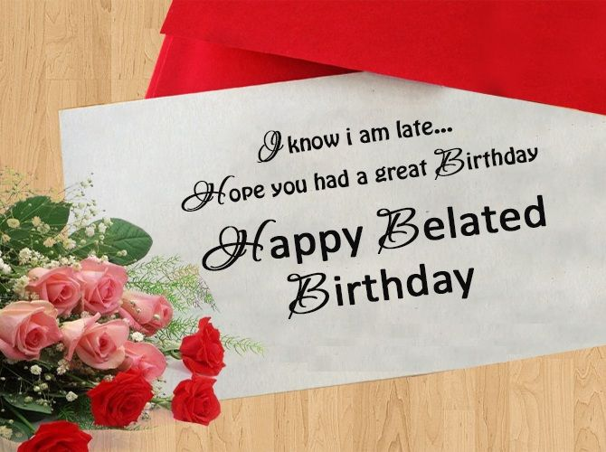 Belated Birthday Greeting Cards For Girlfriend Happy Birthday