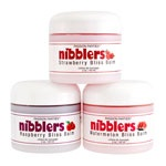 "Nibblers is an easy-to-use lip & ""body"" balm stick. Provides tingling sensations wherever it is applied ;)  www.rondaharvey.com"