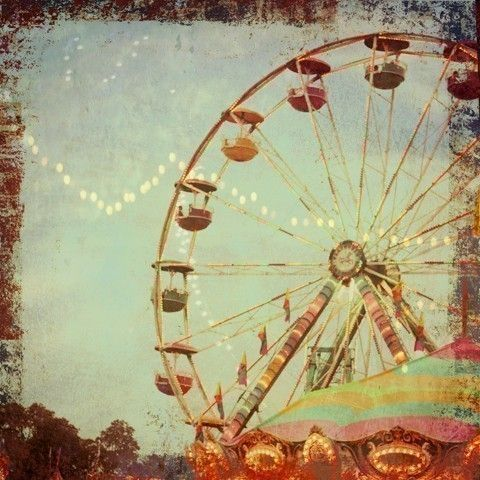 There's something so eerie and romantic about carnivals/theme parks.Fair Wheels Fun Carnivals, Alicia Bock, Paper Moon, Art, Cotton Candies, Things, Ferris Wheels, Summer Photography, Vintage Carnival