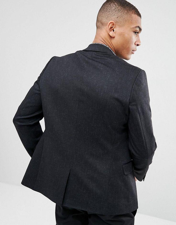 New Look Slim Fit Fleck Blazer In Navy - Navy