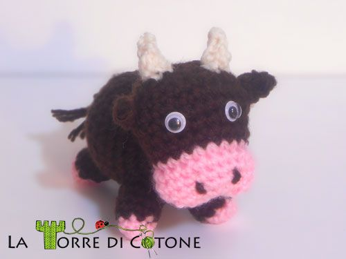 Amigurumi Ox or Cow - FREE Crochet Pattern and Tutorial (Pdf in English)