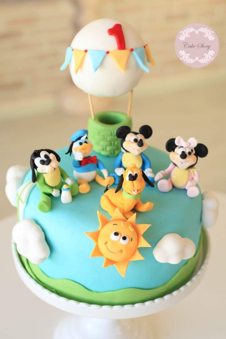 Baby Mickey And Friends Birthday Cake Bebek Mickey Ve