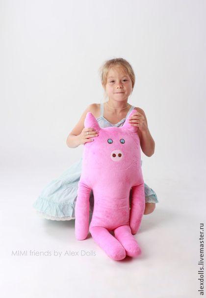 Хрюшка Ваня. Игрушка - подушка. - розовый,хрюшка,свинка,свинья,свинка из ткани, плюшевая игрушка
