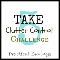 Take 5 Clutter Control Challenge Day 4 - http://practicalsavings.net #cluttercontrol