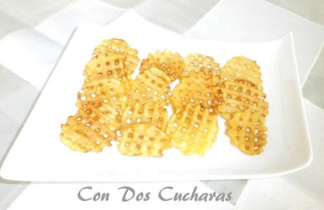 ConDosCucharas.com Patatas fritas rejilla. ( Patatas a la Red) - ConDosCucharas.com
