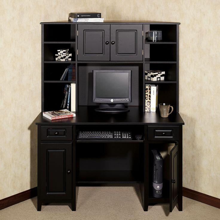 Black Corner Desk Hutch - Best Led Desk Lamp Check more at http://www.gameintown.com/black-corner-desk-hutch/