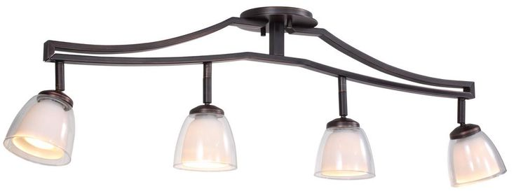 DVP9087ORB-OP Essex 4 lt Oil Rubbed Bronze Opal Glass
