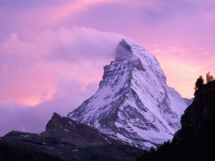 SWITZERLAND (Matterhorn): is a mountain in the Pennine Alps on the border between Switzerland and Italy.