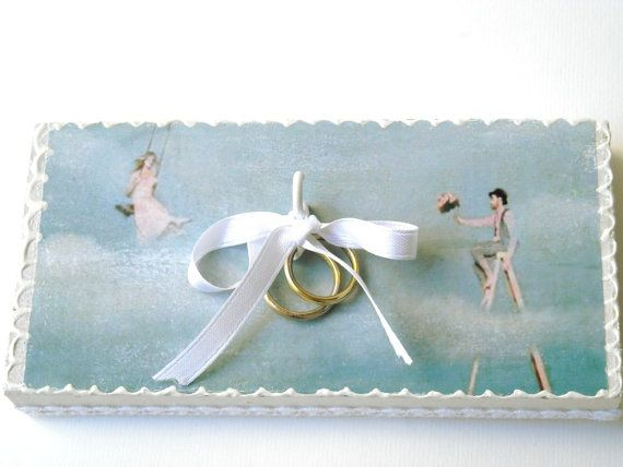 Ring bearer pillow alternative rustic wedding by beMimes on Etsy