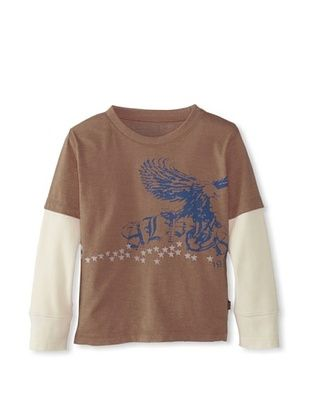 83% OFF Alpha Industries Boy's Liberty Twofer Tee (Mocha)