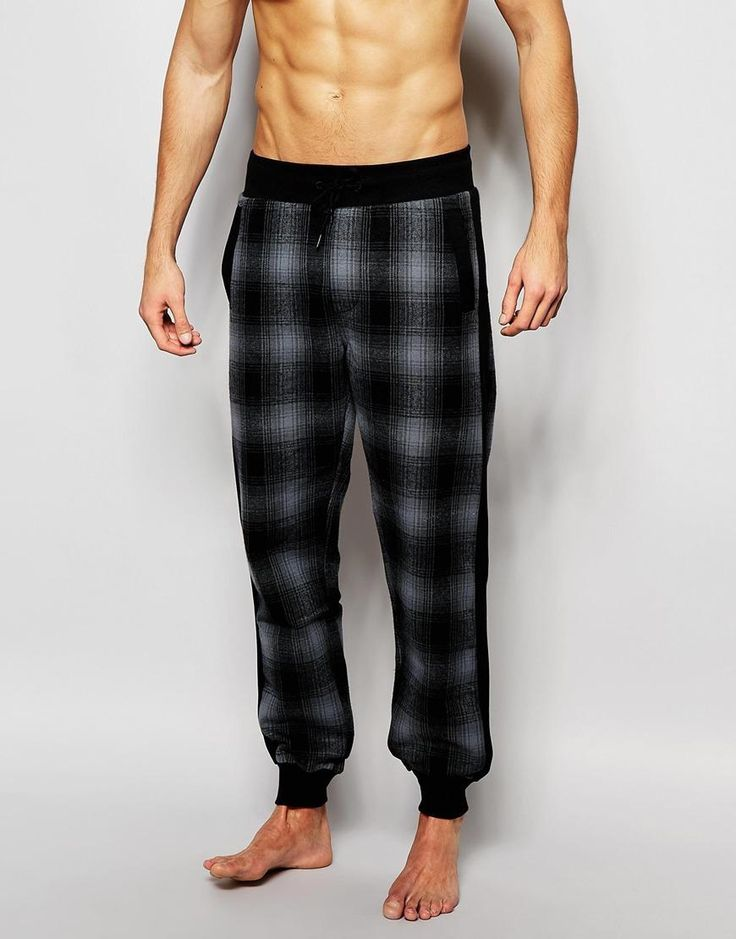 Diesel | Diesel Check Regular Fit Cuffed Joggers at ASOS