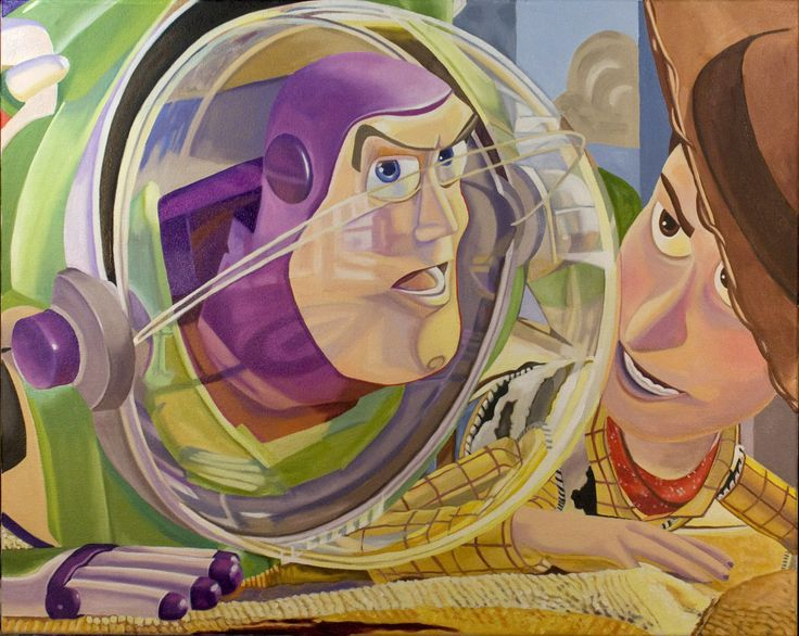 """Strange Things Are Happening Giclee on canvas 18""""x24"""" $350 #ToyStory #Pixar #BuzzLightyear #Woody #Disney"""