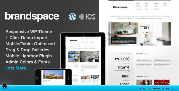 Brandspace Responsive Portfolio & Business WordPress Theme
