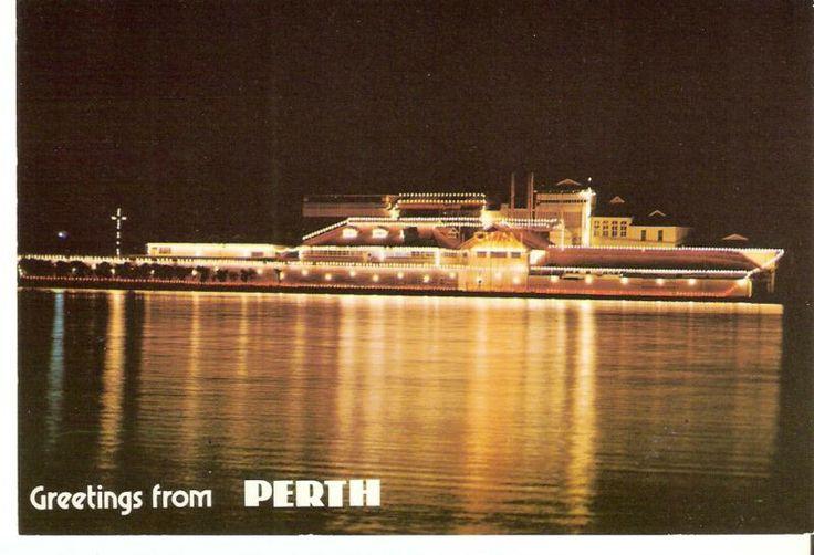 Perth Postcard Swan Brewery Lights