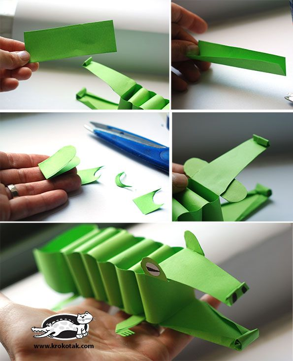 Make your own paper alligator and more here http://krokotak.com/2014/07/paper-alligator/