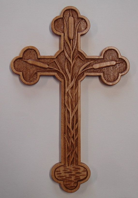 Hand carved wood designer cross. by HOLIWOOD on Etsy, $85.00