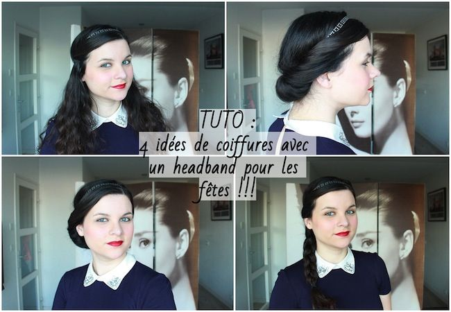309 best images about tuto de coiffure on pinterest see - Coiffure avec headband ...