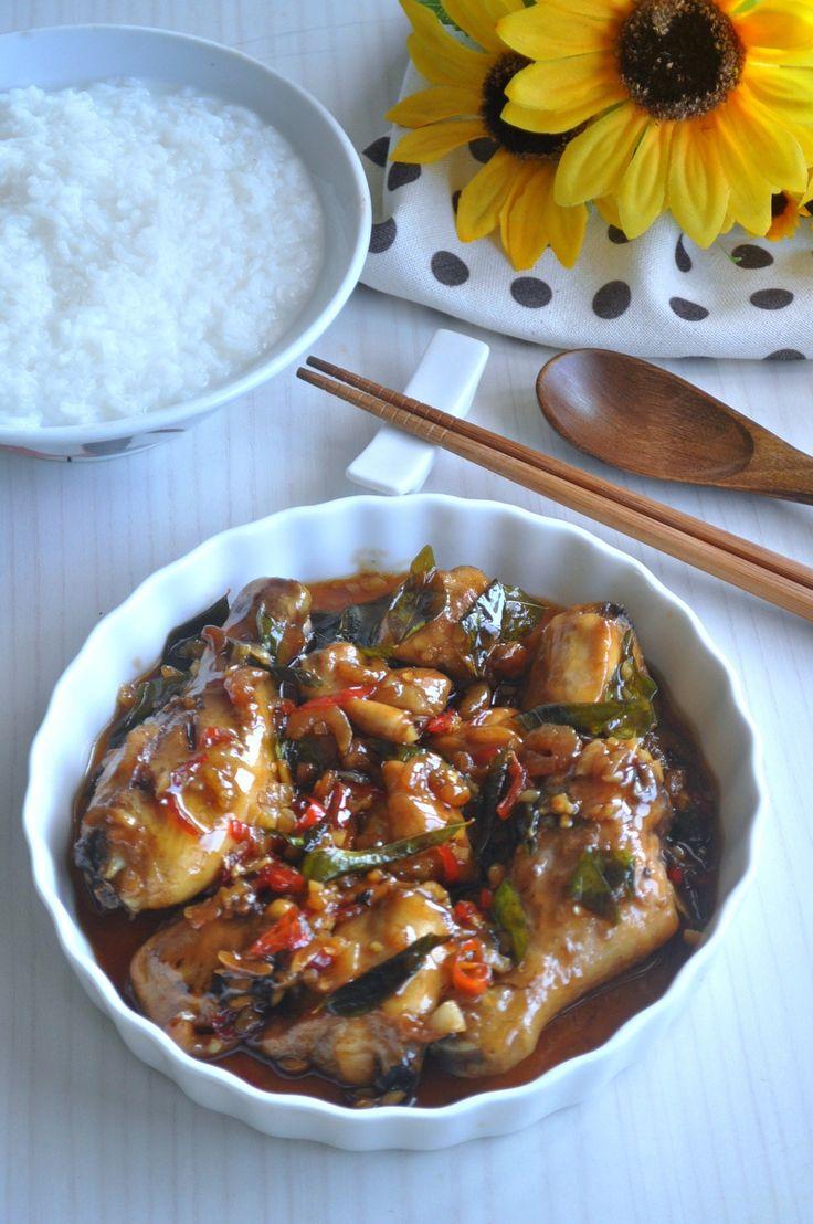 kam heong chicken / fragrant chicken 甘香鸡  recipe  sweet