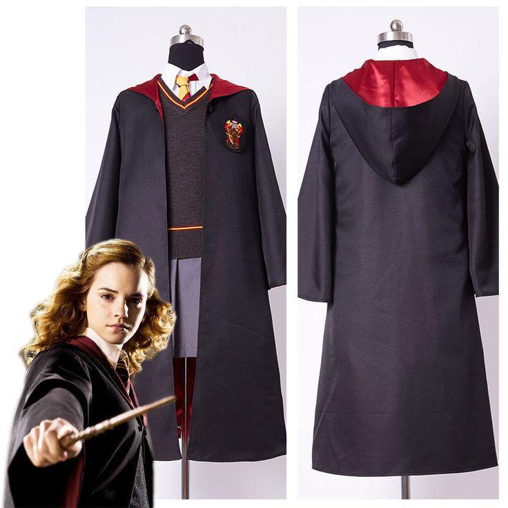 Harry Potter Hermione Granger Cosplay Costume Uniform Fancy Dress Adult/Kids #OutfitProp