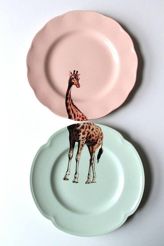 piatti colore decoro animalier