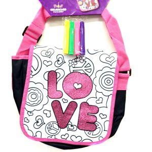 LOVE- Boyanabilir Çocuk Çantası