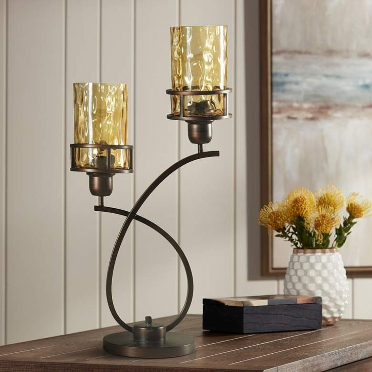 Consuela Bronze Metal And Glass Uplight With Base Switch 36h26 Lamps Plus Lamp Lamps Plus Lamp Light