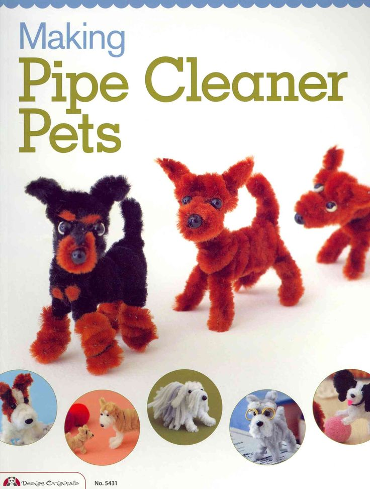 Twist, bend, and shape pipe cleaners into 23 different dog breeds with Making Pipe Cleaner Pets. This book shows readers how to craft a realistic pipe cleaner likeness of their favorite pooch, using o