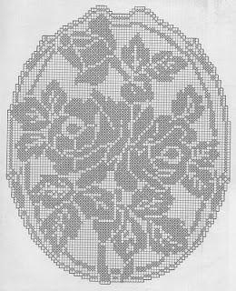 Professione Donna: Schemi per il filet: Copritavolo con grandi rose