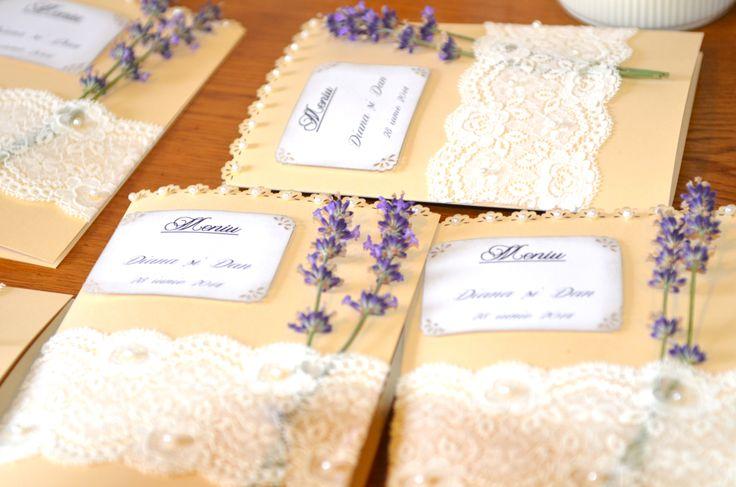 Fresh lavender and lace menu