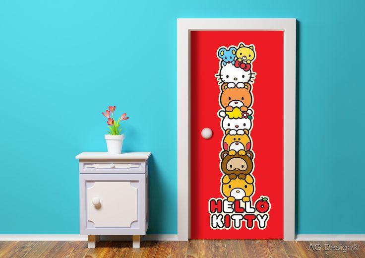 Hello Kitty photo mural